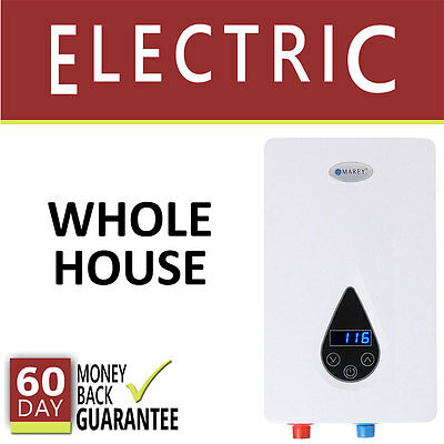 Electric Tankless Hot Water Heater 3 GPM Marey On Demand 3 Bath Whole House