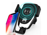 Wireless Car Charger 10W, Fast charging, phone mount charger for car, Auto lock mobile phone holder