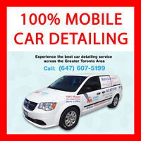 CAR DETAILING WITH STEAM! 100% MOBILE from $100