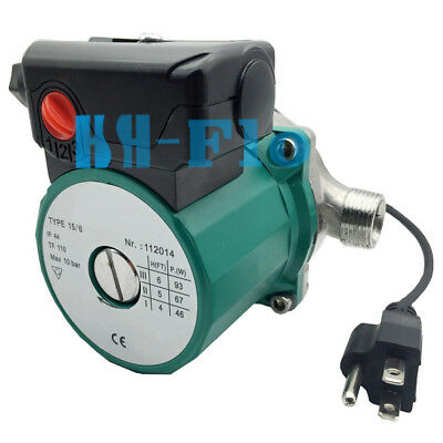 120v Circulation Pump 3-speed Stainless Npt34 Hot Water Circulator Pump