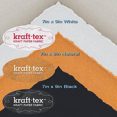 KRAFT-TEX 3-PIECE SMALL SAMPLER Natural White Black Wash Sew Leather-Like -