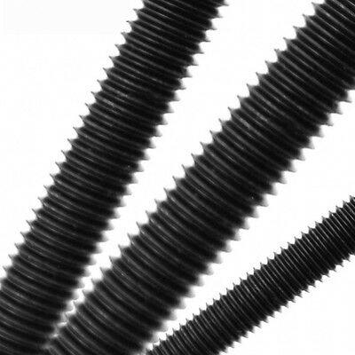 M2 M2.5 M3 M4 250mm High Tensile 12.9 All Thread Threaded Rod Bar Studs Black