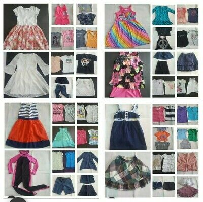 Huge NICE Lot 65 pc Girls Summer Clothes Sz 10 12 10/12 10-12 Justice, Nautica +