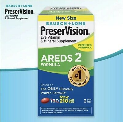 Bausch & Lomb PreserVision AREDS 2 Formula Supplement 210 Count EXP 07/2021 (Bausch And Lomb Preservision Areds 2 Formula)