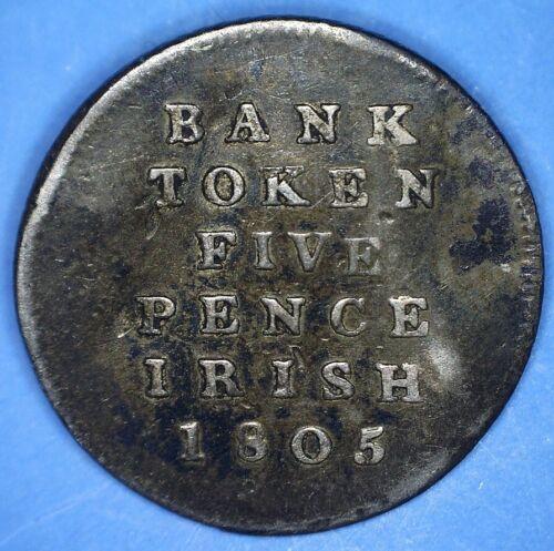 1805 IRELAND SILVER FIVE PENCE BANK TOKEN - *28535418