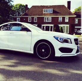 White Mercedes Benz CLA class diesel 2013