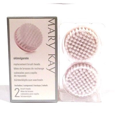 MARY KAY SKINVIGORATE CLEANSING BRUSH HEADS~NIB~2 REPLACEMENT HEADS~FAST SHIP!