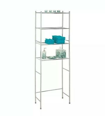 Bathroom Shelf Space Saver Over Toilet Storage Organizer Metal 4 Tier Rack NEW..