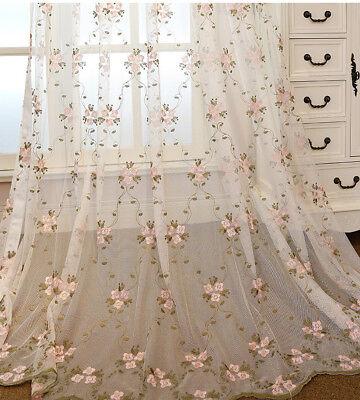 Lace Sheer Tulle Curtain Rod Pocket Net Mesh Voile Graceful Luxury Drape 1 Panel