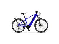 Brand New Wisper Wayfarer 2021 Hub Drive Crossbar Adventure 450Wh E-Bike Blue