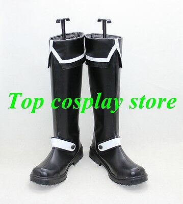 D.Gray-Man Allen Walker Black white Cosplay Boots shoes shoe boot  for sale  China