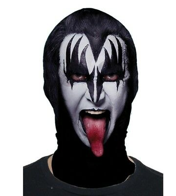 Faux Real Kiss Music The Demon Sublimated Adult Halloween Costume Mask F152421 - Real Halloween Costume