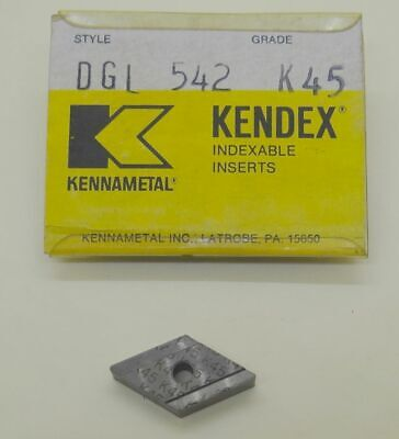 Kennametal Kendex Carbide Indexable Cutting Inserts Dgl 542 K45 Quantity 4