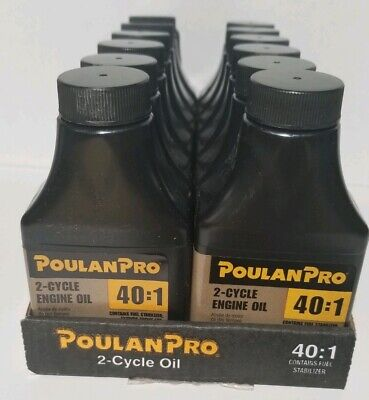 Lot 12-Poulan Pro Weed Eater Easy Mix 40:1 Engine Oil 2-Stroke 2-Cycle 3.2 oz Ea 2 Stroke Oil 2 Cycle
