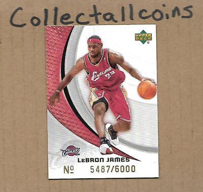 LeBron James 2006-07 Upper Deck Rite Aid Card Serial #d /6000 Cavs Lakers Heat