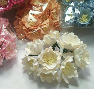 25 Magnolia Flower Mulberry Paper Scrapbooking Card Crafts Wedding 4.00 cm. (Paper Flower Crafts)