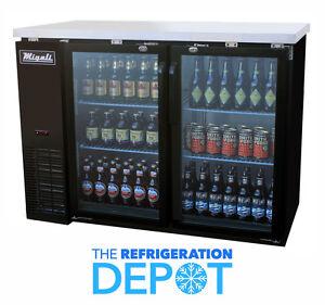 Migali C-BB48G Glass Door Back Bar Refrigerator - FREE SHIPPING