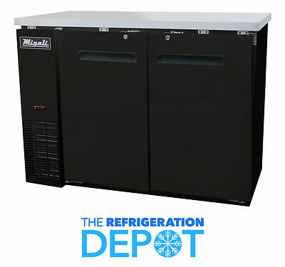 Migali C-bb48 Solid Door Back Bar Refrigerator - Free Shipping