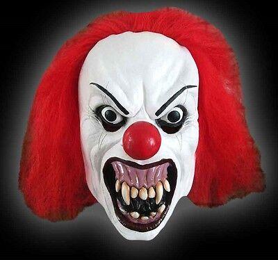 VERY Scary Unisex Adults Snarling Terror Clown Mask Fancy Dress Halloween Mask