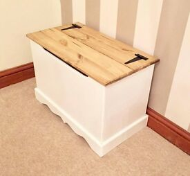 Handmade Country Chic Ottoman-FREE DELIVERY