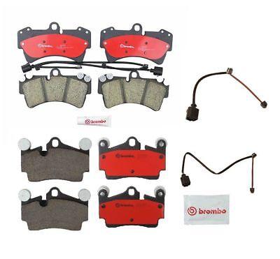 Front & Rear Disc Brake Pad Set and Sensors BREMBO FOR Audi Q7 VW Touareg (Brembo Rear Brake Disc)