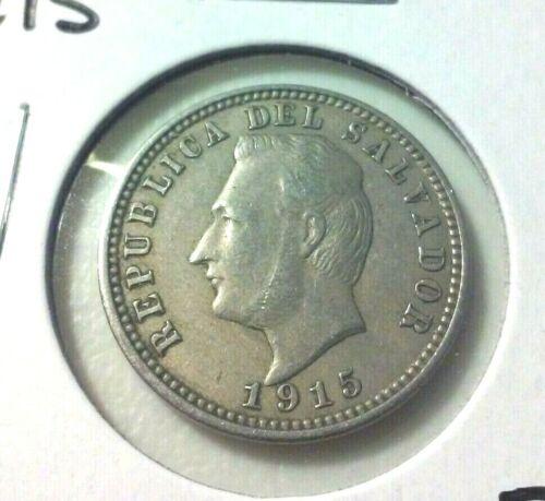 1915  El Salvador  3 Centavos Coin  - KM#128  -  Sharp Details -  (#IN5830)