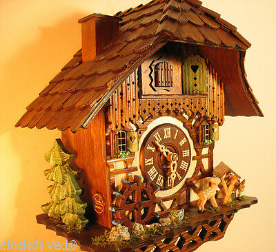 1 day Musical Cuckoo Clock Chimneysweep set of 1 NEW