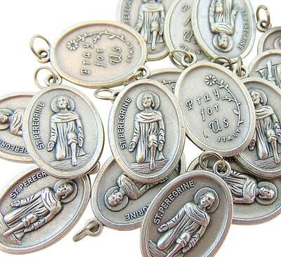 Set of 10 St Peregrine Medals 3/4