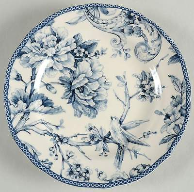 222 Fifth ADELAIDE BLUE & WHITE Salad Plate 8789392