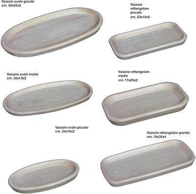 Vassoio in legno, per polenta e affettati, in 6 modelli a scelta, diverse misure