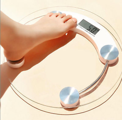 400lb 180KG Bathroom Digital Electronic Glass Weighing Body Weight Scale - Weighing Scale