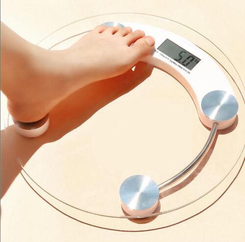 400lb 180KG Bathroom Digital Electronic Glass Weighing Body