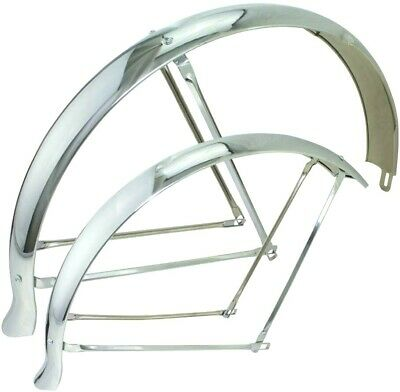 "16/"" Flared Ducktail Fenders Bicycle,Bike Cruiser,Chopper Lowrider Chrome Classic"