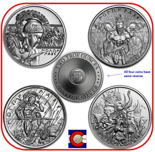 Intaglio Mint - Spartan Molon Labe  - Set of 4 Silver 2 oz Rounds - in capsules