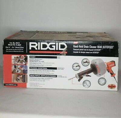 New Ridgid K-45af Powered Drain Cleaner Handheld Autofeed 34- 2-12 Snake