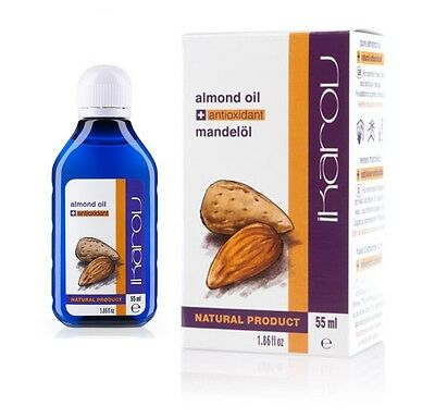 IKAROV 100% Pure Natural Essential Almond Oil 55ml - for skin, hair, nails,