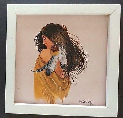 Indian maiden art painting