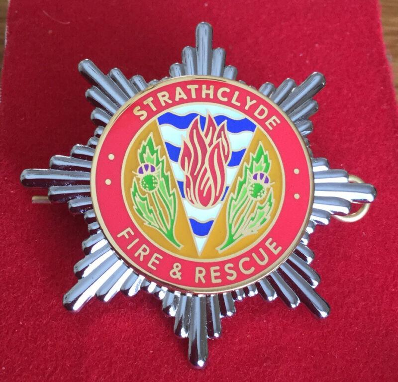 An original Strathclyde, F. & R. cap badge.