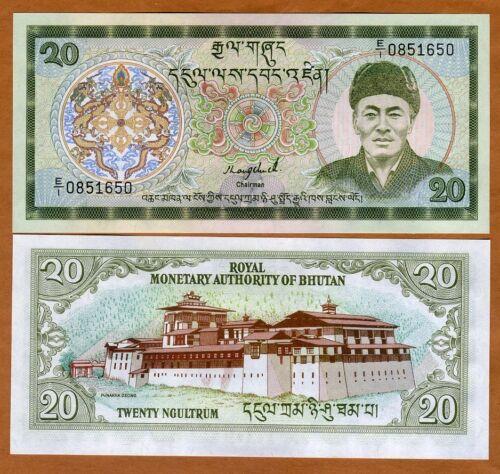 Bhutan, 20 Ngultum, ND (1986), P-16a, UNC