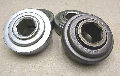 Mathews Type Conveyor Bearing Lot Of 4 - 3 New -1 Used 3 Od 1-116 Hex Bore