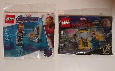 LEGO Marvel Avengers 30452 Iron Man And Dum E & 30453 Captain Marvel and Nick...
