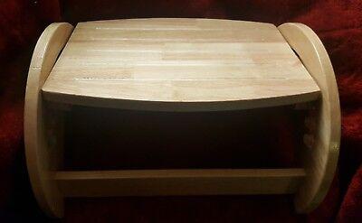 KidKraft Adjustable Step Stool/Foot Rest Natural Wood Color  ()
