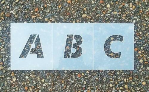 Parking lot Alphabet Stencil (Futura Font)