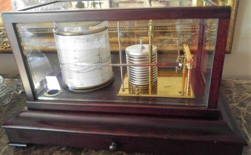 Antique Short & Mason London Barograph Barometer Wood And Brass 610