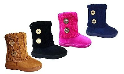 Wholesale lot 36 pairs New Kid's 2 Button Knitting Boot Fashion Shoes--285A