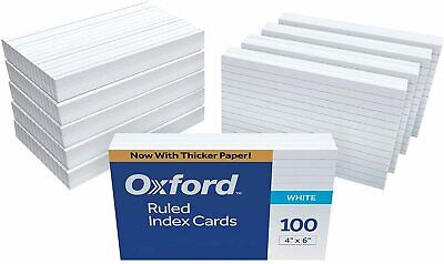 Oxford Ruled Index Cards 4 X 6 White 1 000 Cards 10 Packs Of 100 41 Made