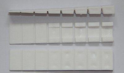 50 Möbelkeile Weiß 100x20 mm Unterlegkeile Kunststoff mit 7 Soll-Bruchstellen