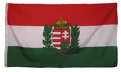 3x5 Hungary Hungarian Crest Royal Country Flag 3'x5' Grommets Fade Resistant