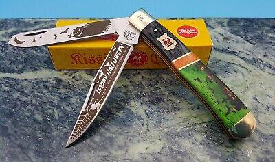Kissing Crane 2019 Halloween Trapper Limited Ed. Folding 2 Blade Pocket Knife