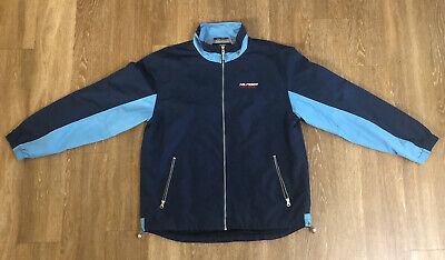 TOMMY HILFIGER Men's Athletics Jacket Large Navy Blue  Gently Worn Size L